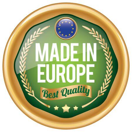 origin: made in europe icon Illustration