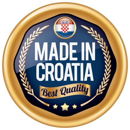 croatia: made in croatia icon