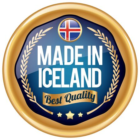 iceland: made in iceland icon Illustration