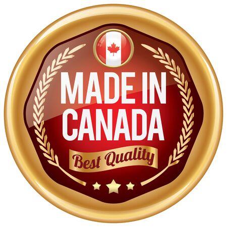 made in canada icon Ilustração