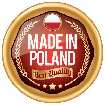 poland: made in poland icon