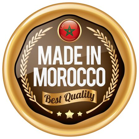 made in morocco: made in morocco icon Illustration