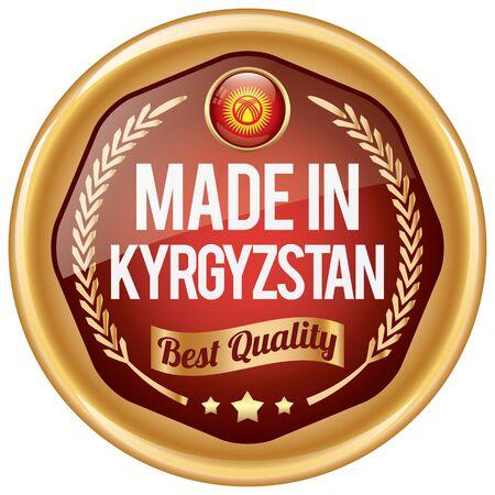 kyrgyzstan: hecho en icono de Kirguistán