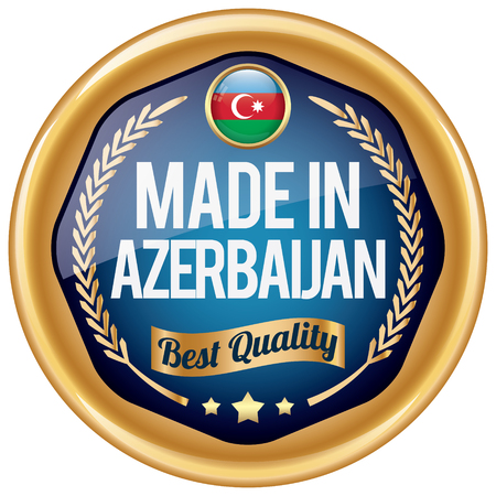 azerbaijanian: made in azerbaijan icon Illustration