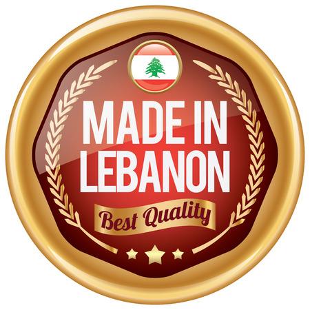 lebanon: made in lebanon icon Illustration