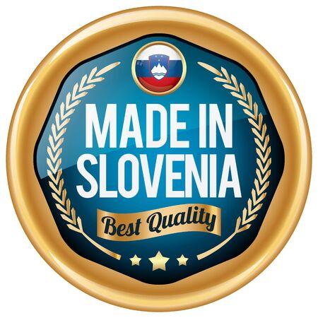 made in slovenia icon Illustration