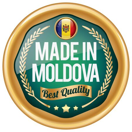 moldova: made in moldova icon Illustration