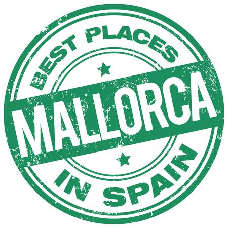 best travel destinations: mallorca spain stamp Illustration