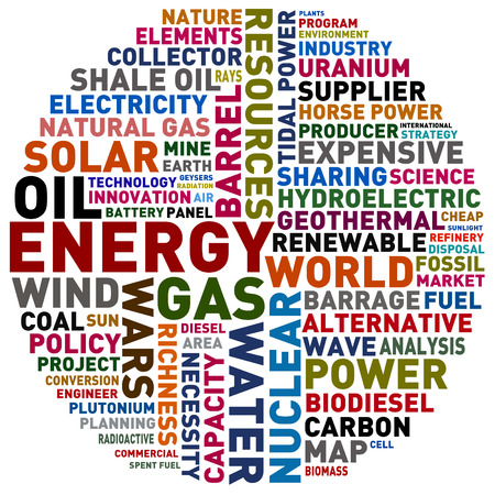 barrage: word collage about energy