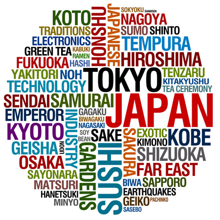 far: word collage about Japan
