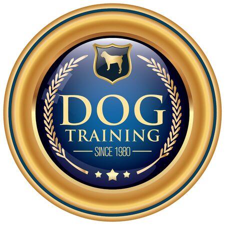 dog training: dog training icon Illustration