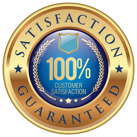 satisfaction guaranteed icon Ilustrace