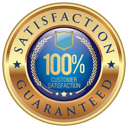 satisfaction guaranteed icon Vettoriali