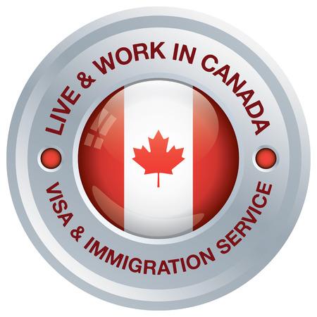 immigrant: Canada immigration icon Illustration