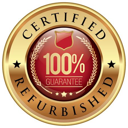 Insigne remis à neuf certifié Banque d'images - 63843127