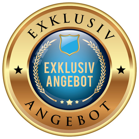 exclusive: Exclusive Offer icon in German language