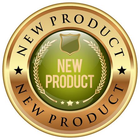 groen pictogram Nieuw product Vector Illustratie