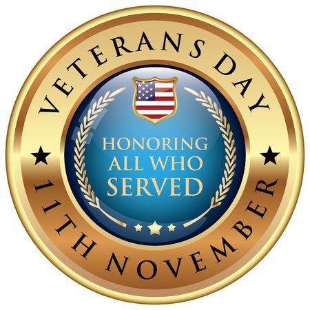 Veterans Day Abzeichen Standard-Bild - 63843134