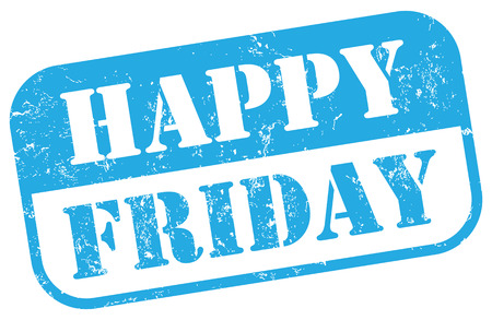 weekday: Happy Friday stamp
