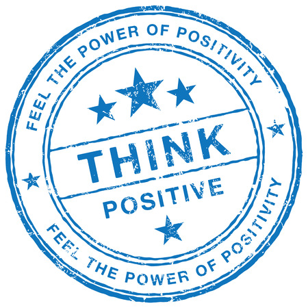 feel good: Think Positive stamp