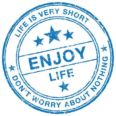 enjoy: Enjoy Life stamp Illustration