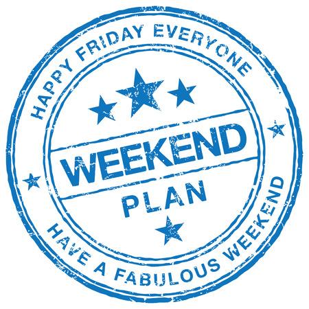 sat: Weekend Plan stamp