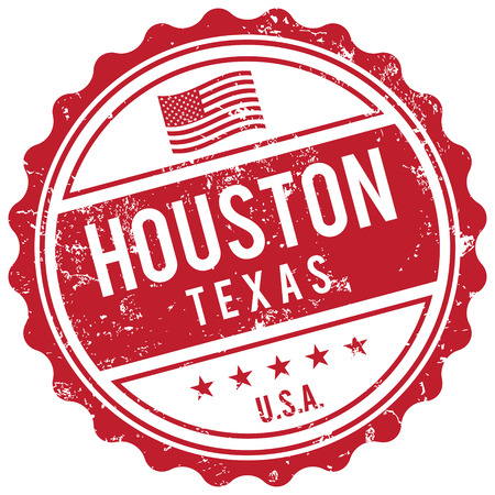 american cities: Houston Texas stamp