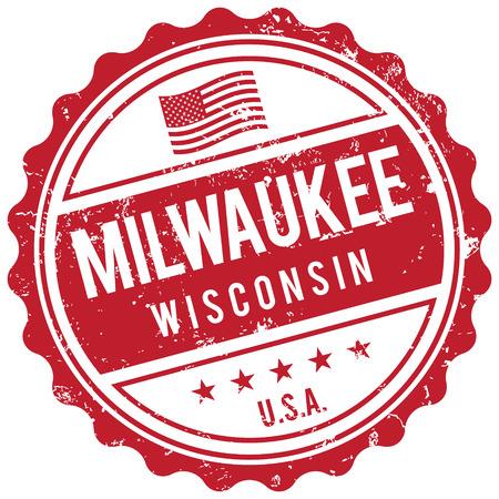 wisconsin: Milwaukee Wisconsin stamp