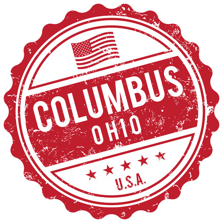 american cities: Columbus Ohio stamp