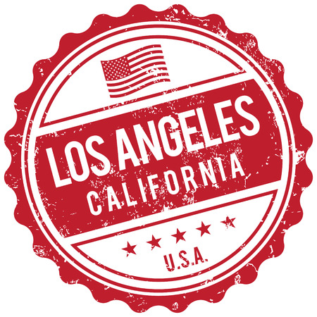 Los Angeles California stamp