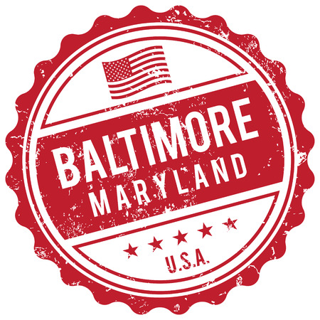 american cities: Baltimore Maryland stamp