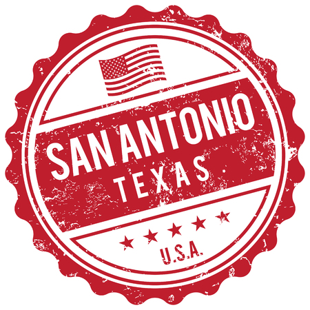american cities: San Antonio Texas stamp