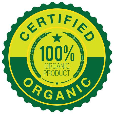 certified: Certified Organic badge Illustration
