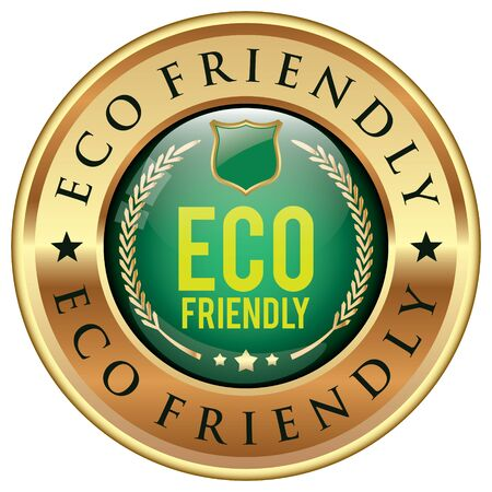 Badge Eco Friendly Vecteurs