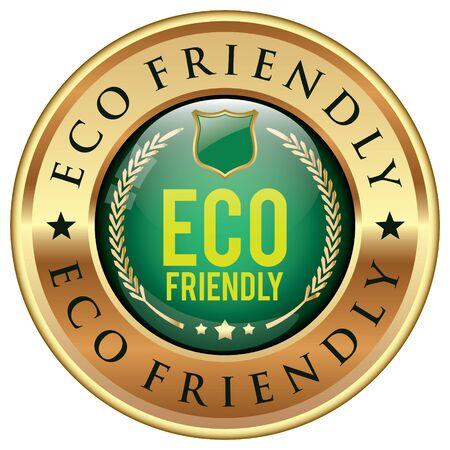 Eco Friendly badge Vetores