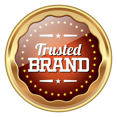 grunge banner: Trusted Brand badge
