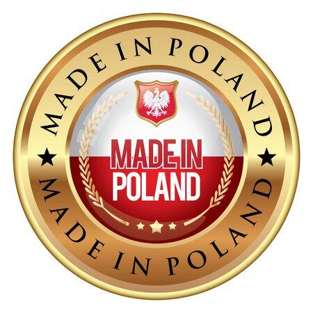 polish flag: Made in Poland badge Illustration