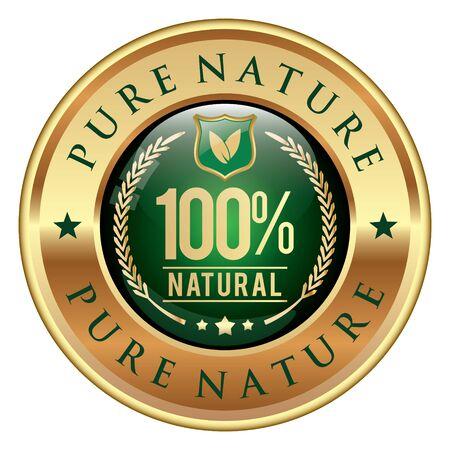 Pure Nature icon Illustration