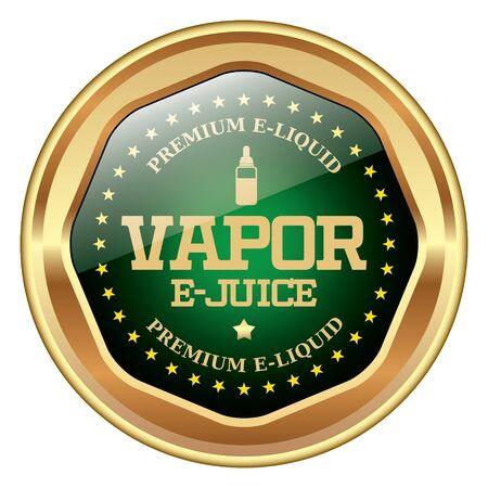 nicotine: Vaping E-Juice badge