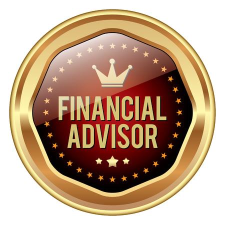 financial advice: Financial Advisor badge