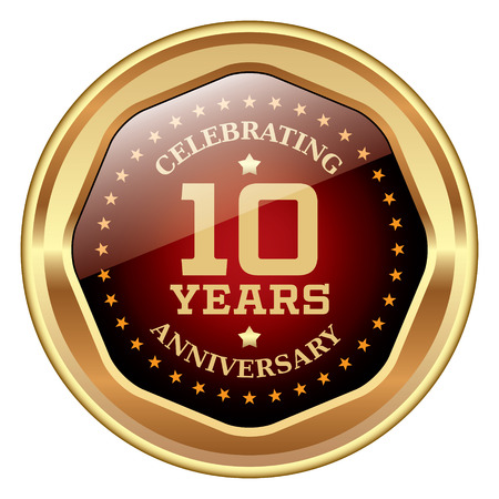 10: 10 years anniversary icon