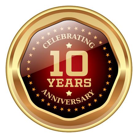 10 years: 10 years anniversary icon
