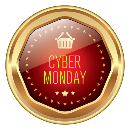 discount store: Cyber Monday badge Illustration