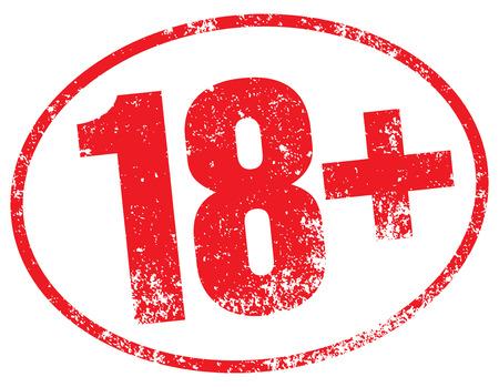 18+ stamp