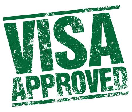 visa approved: Visa approved stamp