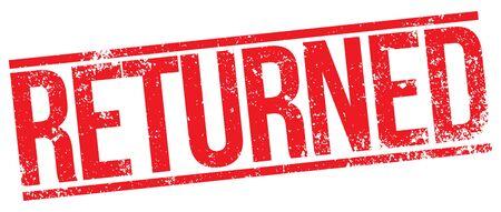 returned: Returned stamp