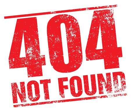 404 Not Found stamp Illustration