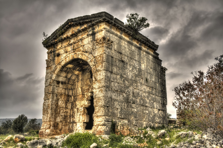 Mausoleum of Queen Aba in Kanytelleis (Kanlidivane) Ancient City, Mersin Turkey