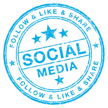 Social Media stamp Ilustração