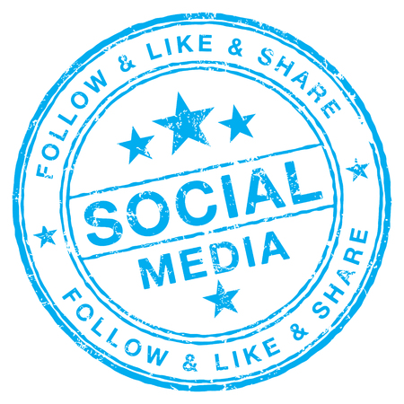 Social Media stamp Stock Illustratie